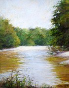 River And Trees Fine Art Print by Nancy Stutes