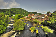 River Dee Prints - River Dee at Llangollen  Print by Rob Hawkins