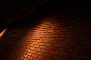 Badass Prints - River Walk Brick Wall Print by Shawn Marlow
