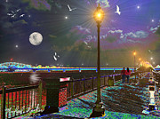 Riverwalk Digital Art - River Walk by Michael Rucker
