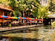 Riverwalk Digital Art - Riverwalk by Cary Shapiro