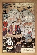Miniatures Art - Rizai Abbasi 16th C.. History Of Koran by Everett