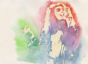 Robert Plant Paintings - Robert Plant by Robert Nipper