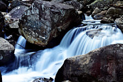 Nature Scene Digital Art Metal Prints - Rocks and Waterfall Metal Print by Adam LeCroy
