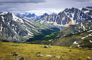 Valleys Photos - Rocky Mountains in Jasper National Park by Elena Elisseeva
