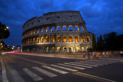 Blue Hour Prints - Roma di Notte - Rome by Night Print by Marco Crupi