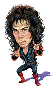 Caricaturist Framed Prints - Ronnie James Dio Framed Print by Art