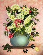 Barbara Griffin - Roses and White Lilacs