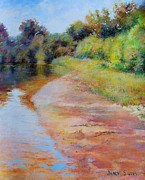 Rosy River Fine Art Print by Nancy Stutes