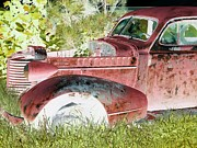 Basement Art Photo Framed Prints - Rusted Truck 4 Framed Print by Dietrich ralph  Katz