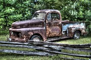 Roughneck Originals - Rusty Old Beater Ford Truck by Robert Loe