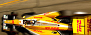 Izod Posters - Ryan Hunter-Reay Poster by Denise Dube