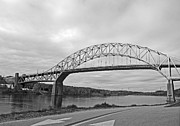 Sagamore Bridge Black And White Fine Art Print by Barbara McDevitt