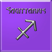 Francis Digital Art Posters - Sagittarius Poster by Fran Riley