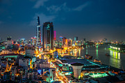 Fototrav Print - Saigon Aerial Night Skyline