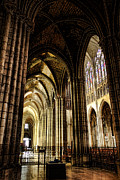 Nave Prints - Saint Denis Cathedral Print by Olivier Le Queinec