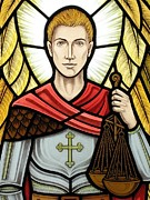 Stained-glass Glass Art - Saint Michael by Gilroy Stained Glass