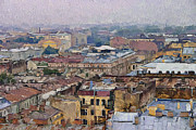Saint Petersburg Prints - Saint Petersburg Roofs 2 Print by Yury Malkov
