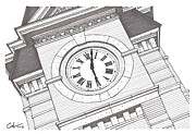 University Campus Buildings Drawings Drawings - Samford Hall Detail by Calvin Durham
