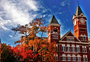 Samford Hall Framed Prints - Samford Hall in the Fall Framed Print by Victoria Lawrence