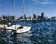 Surf Photos Art Originals - San Diego Sailboats by Glenn McNary