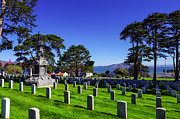 Ground Prints - San Francisco National Cemetery Print by Scott McGuire