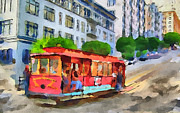 Tram Framed Prints - San Francisco Trams 9 Framed Print by Yury Malkov