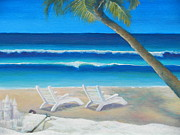 Sand Castles Painting Metal Prints - Sand Castles Metal Print by Sue Riley