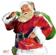 Chris Cringle Posters - Santa Claus Poster by Mark Spears
