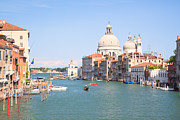 Vaporetto Framed Prints - Santa Maria della Salute on the Grand Canal in Venice Framed Print by Matteo Colombo