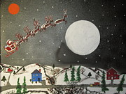 Jeffrey Koss - Santa over the moon