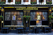 Sarah Posters - Sarahs London Pub Poster by David Pyatt