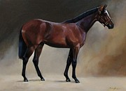 Thoroughbred Paintings - Saratoga Yearling by Janet  Crawford