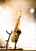 Rock And Roll Band Prints - Saxophone  Print by Bob Orsillo
