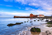 Berwick Posters - Scottish Seascape At North Berwick Harbor Poster by Mark E Tisdale