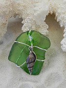 Sea Glass And Shell Pendant by Robin Aitken Hardy