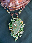 Sea Of Green Necklace by Robin Aitken Hardy