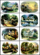 Kinkade Framed Prints - Sea of Tranquility  Framed Print by Thomas Kinkade