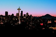 Seattle Skyline Art - Seahawk Sunrise by Benjamin Yeager