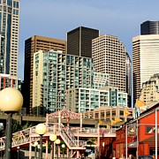 Seattle Skyline. Print by Art Block Collections