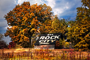 American Icons Prints - See Rock City Barn Print by Debra and Dave Vanderlaan