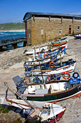 Sennen Cove Posters - Sennen Cove Fishing Fleet Poster by Terri  Waters