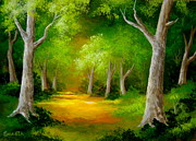 Serenity Landscapes Paintings - Sentinel  Grove  by Shasta Eone