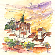 Water Colour Drawings - Serpa  Portugal 27 by Miki De Goodaboom