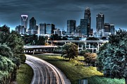 Charlotte Fine Art Framed Prints - Sexy Skyline of Charlotte  Framed Print by Robert Loe