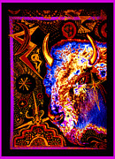 Ascension Mixed Media Posters - Shamanic Cosmos Poster by Susanne Still