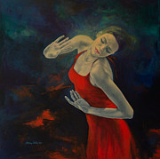 Dance Painting Originals - Shape Of My Heart... by Dorina  Costras