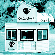 Shave Ice Posters - Shave Ice in Blue Poster by Tiffany Dawn Smith