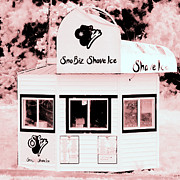 Shave Ice Posters - Shave Ice in Pink Poster by Tiffany Dawn Smith