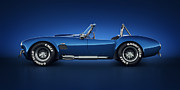 Transportation Photography Posters - Shelby Cobra 427 - Water Snake Poster by Marc Orphanos